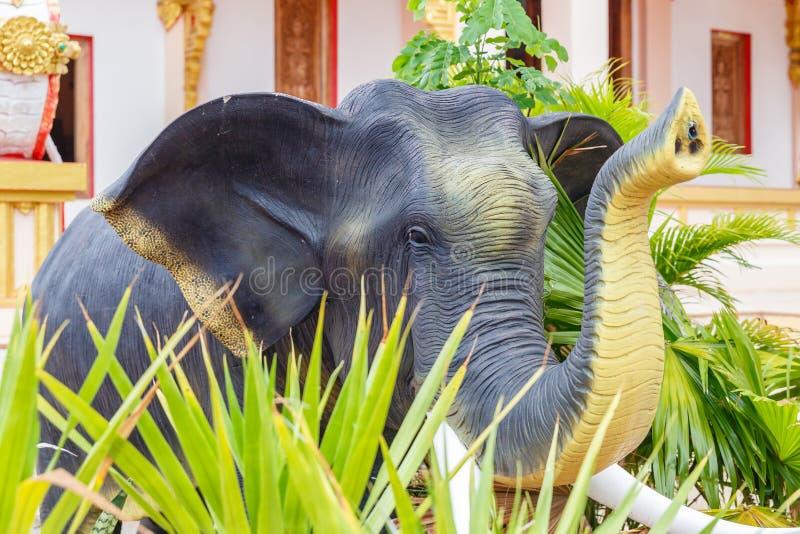 Scultura dell'elefante, statua dell'elefante della Tailandia immagine stock