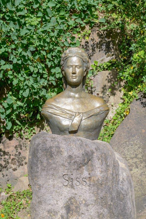 Scultura dell'imperatrice Elisabetta d'Austria anche conosciuta come Sissi fotografia stock