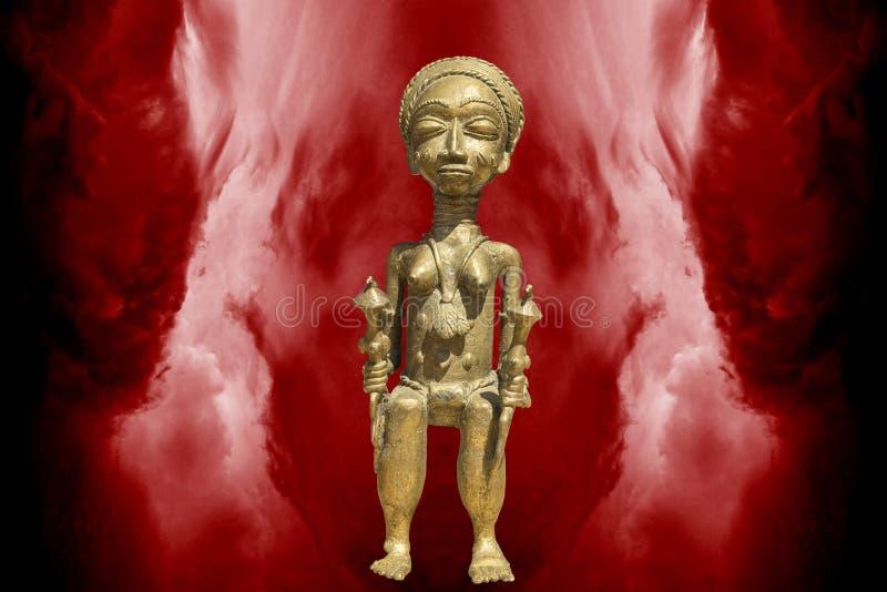 Scultura della regina africana immagini stock libere da diritti