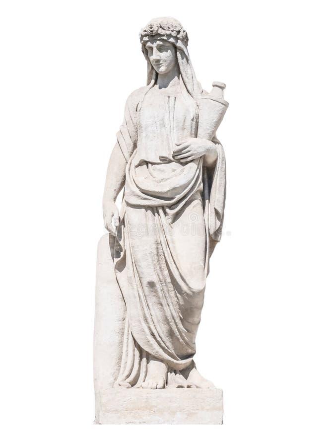 Scultura della sacerdotessa greca del dio immagine stock