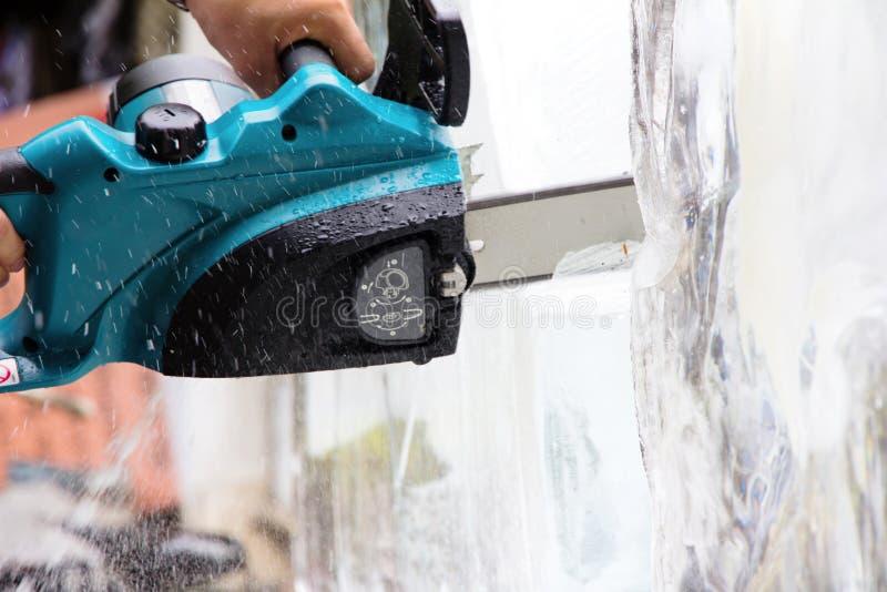 Scultura della scultura di ghiaccio immagine stock libera da diritti