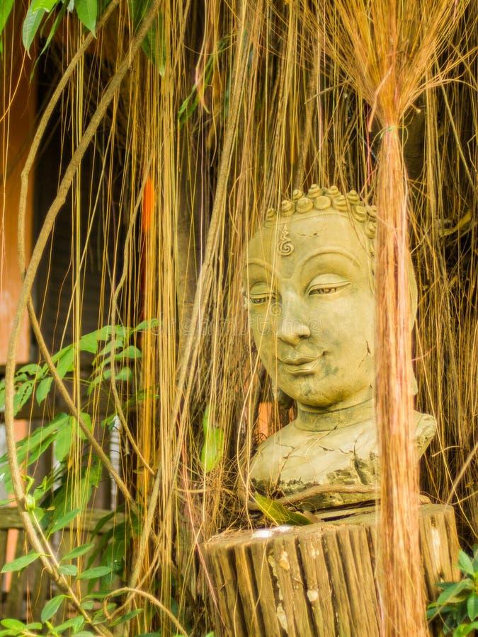 Scultura della testa di Buddha fotografie stock