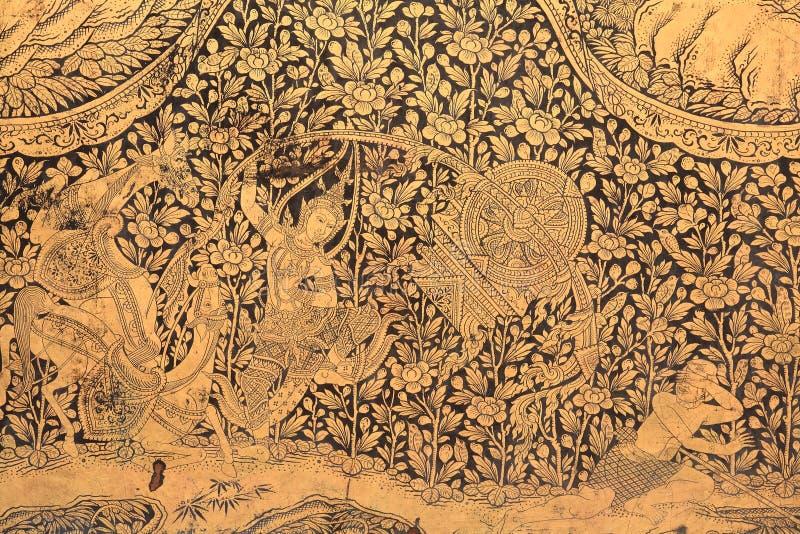 scultura di arte di un dio, di un cavallo e di un reticolo floreale fotografie stock