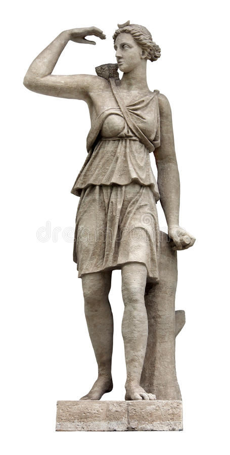 Scultura di Artemis fotografie stock libere da diritti