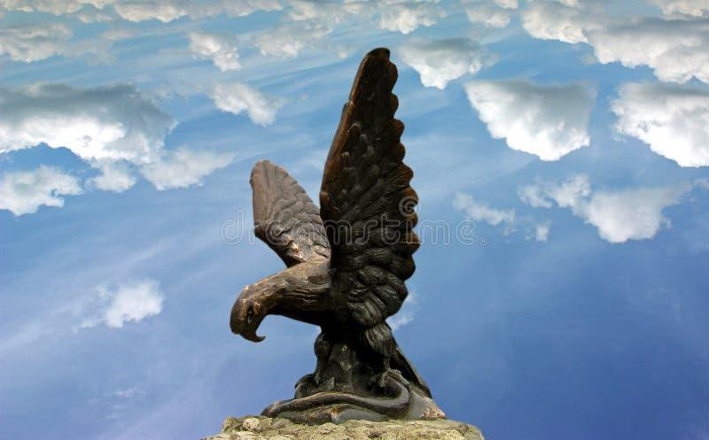 Scultura di Eagle in Pjatigorsk fotografie stock libere da diritti