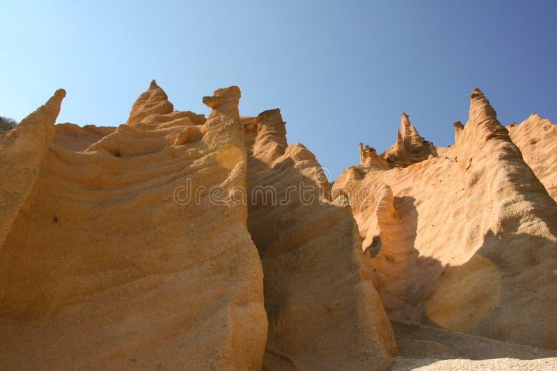 Scultura di erosione fotografie stock libere da diritti