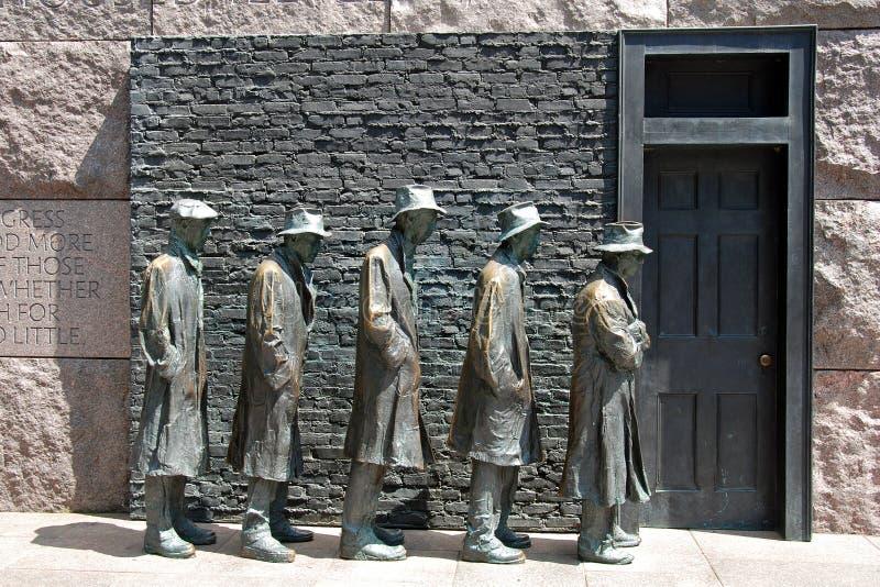 Scultura di fame del memoriale del Franklin Roosevelt fotografia stock libera da diritti