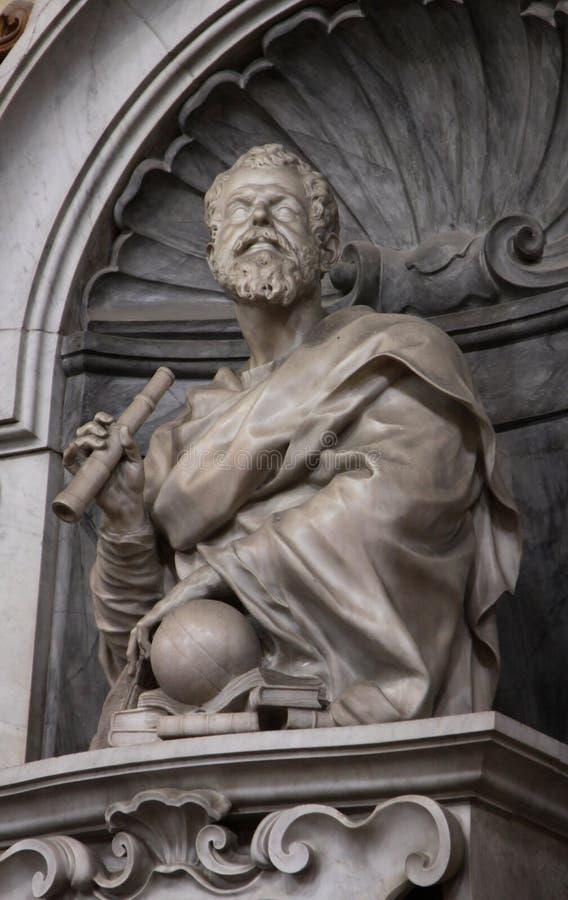 Scultura di Galileo fotografie stock libere da diritti