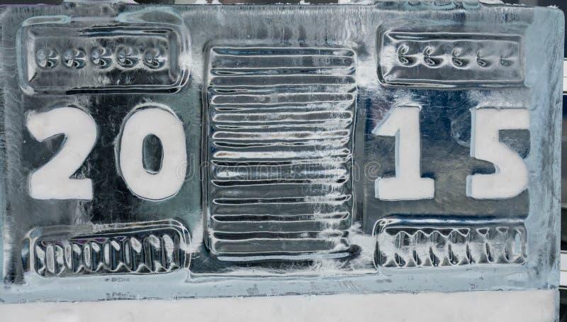 scultura di ghiaccio 2015 fotografie stock