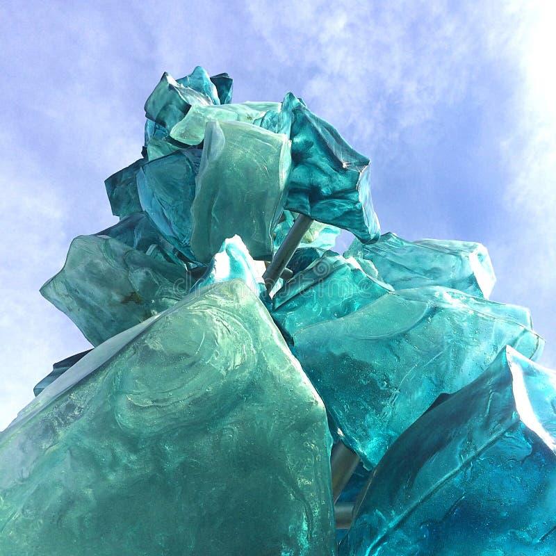Scultura di ghiaccio di vetro fotografie stock libere da diritti