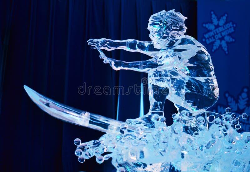 Scultura di ghiaccio a Winterlude 2014 immagine stock