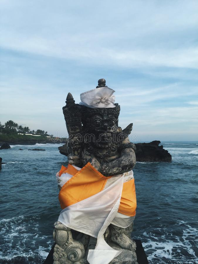 Scultura di Hinduismo nell'isola di Bali, Indonesia immagini stock libere da diritti