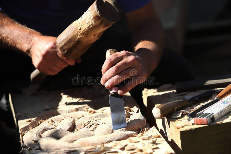 Scultura di legno fotografie stock