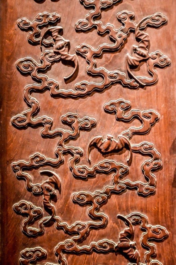 Scultura di legno cinese immagini stock libere da diritti