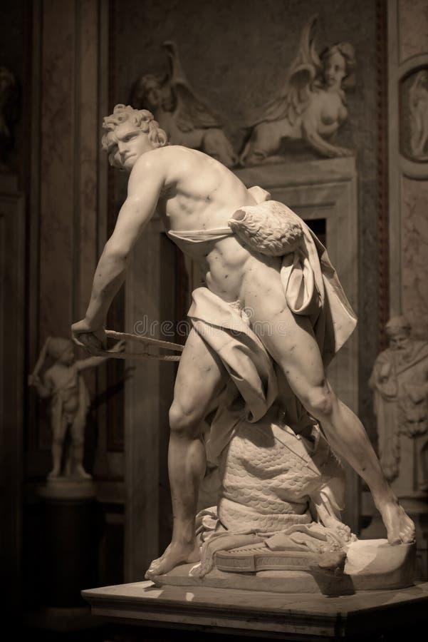 Scultura di marmo David da Gian Lorenzo Bernini fotografia stock