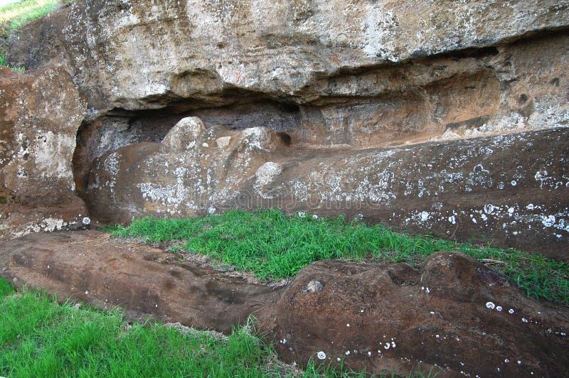 Scultura di Moai - il Cile fotografia stock