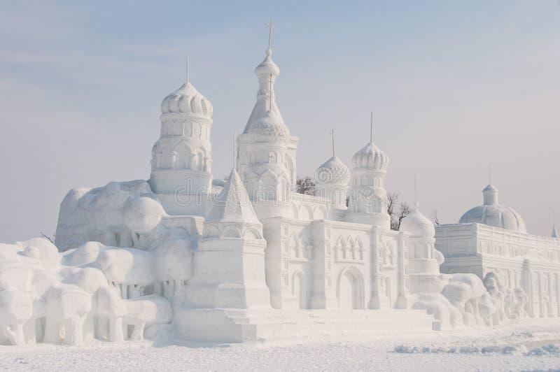 Scultura di neve fotografie stock libere da diritti