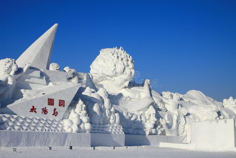 Scultura di neve fotografia stock libera da diritti