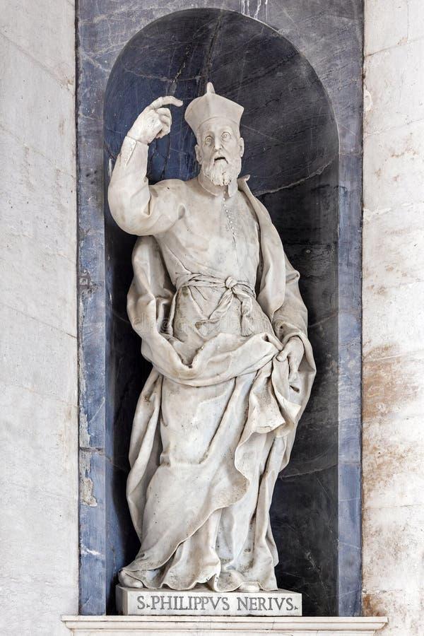 Scultura di Philip Neri Italian Baroque del san fotografia stock libera da diritti