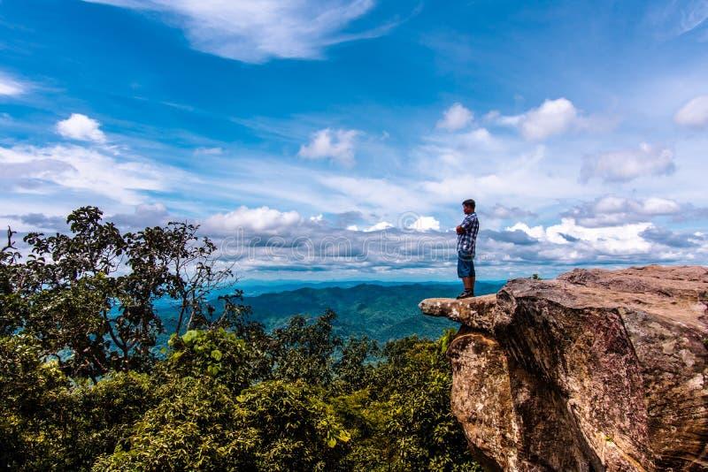 Scultura di pietra naturale non vista di Mo Hin Khao fotografia stock libera da diritti