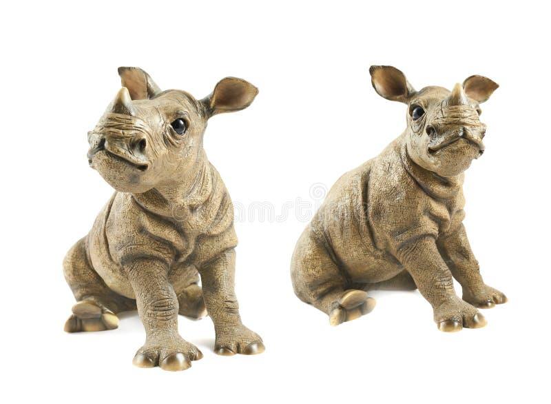Scultura di rinoceronte del rinoceronte fotografia stock libera da diritti