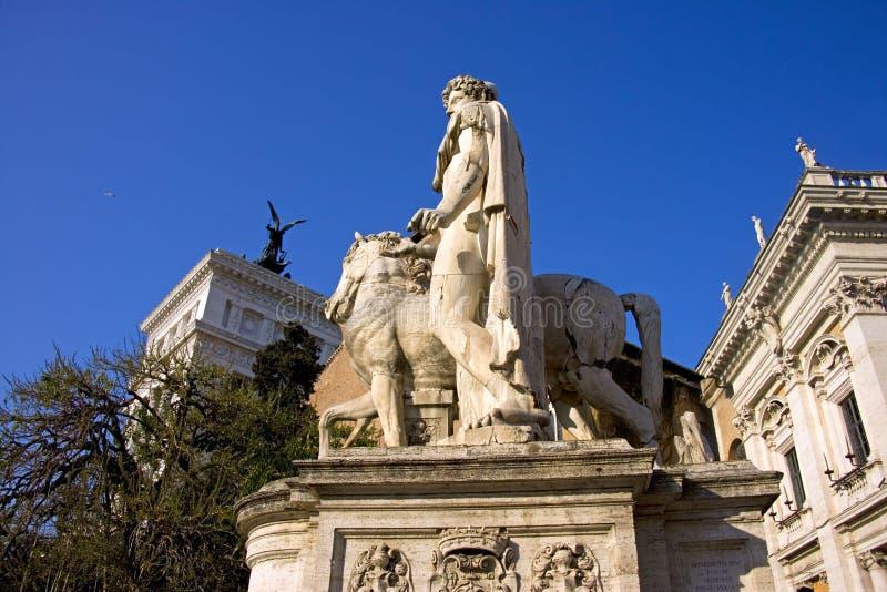 Scultura di Roman Catholicism di architettura di Roma fotografia stock
