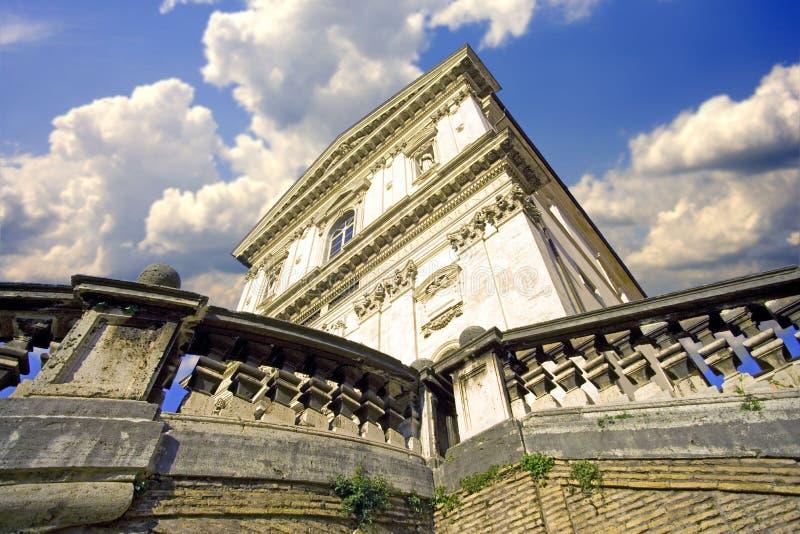 Scultura di Roman Catholicism di architettura di Roma fotografie stock
