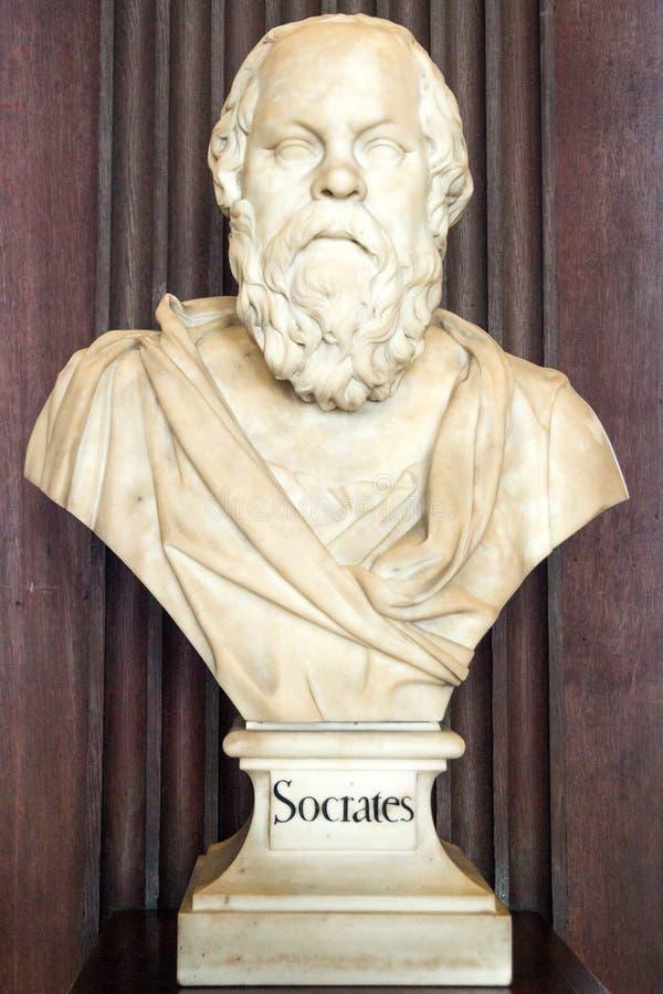 Scultura di Socrates immagini stock