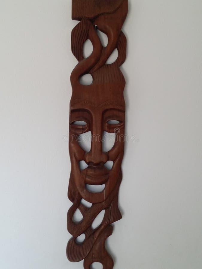 Scultura indiana di legno fotografia stock libera da diritti