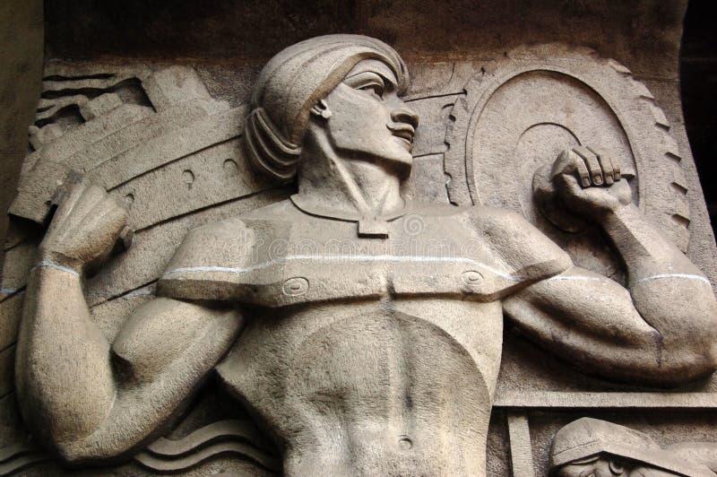 Scultura industriale del muscolo dell'India fotografie stock libere da diritti