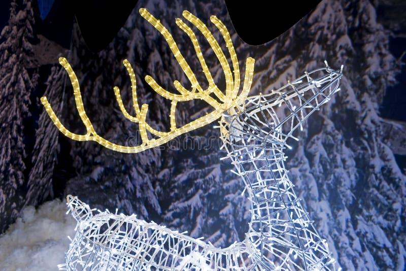 Scultura leggera della renna fotografia stock