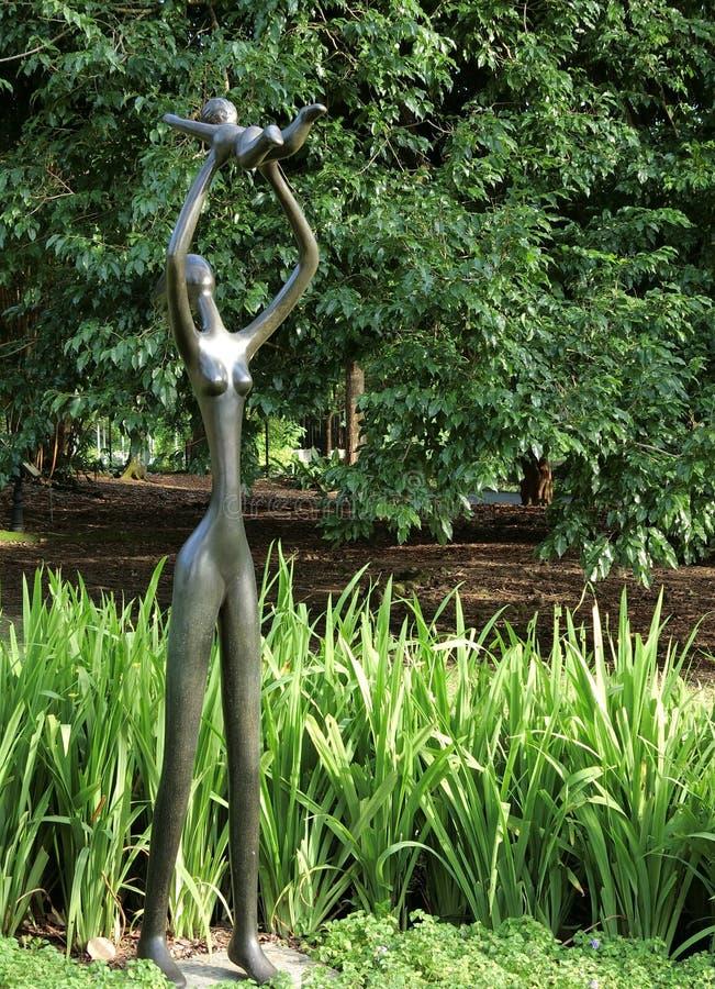 Scultura nei giardini botanici di Singapore fotografie stock