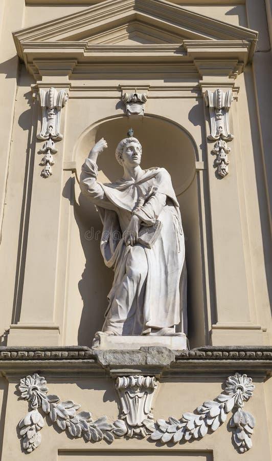 Scultura nel convento domenicano del niche_old di San Marco immagini stock libere da diritti