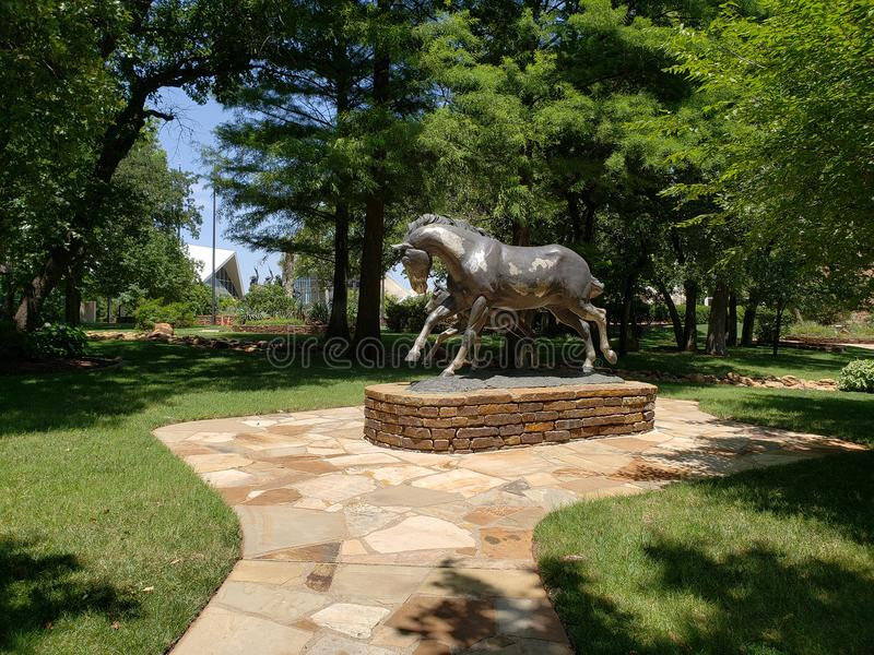 Scultura nel cowboy nazionale di Oklahoma & nel museo occidentale di eredità immagine stock libera da diritti