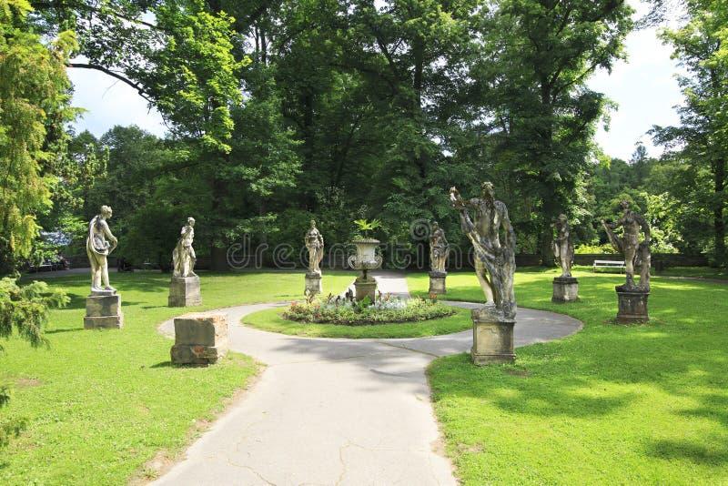 Scultura nel giardino del castello Konopiste fotografia stock