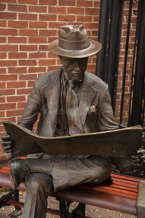 Scultura nella città di Lancaster, Pensilvania, fotografia stock libera da diritti