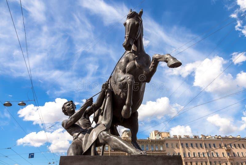 Scultura più addomesticata dei cavalli immagine stock
