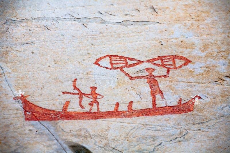 Scultura preistorica della roccia immagini stock