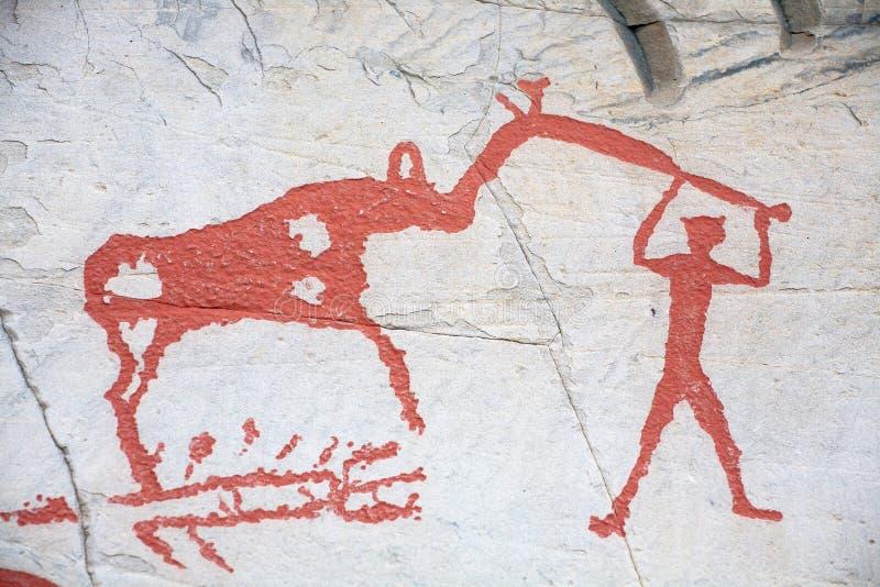 Scultura preistorica della roccia fotografia stock libera da diritti