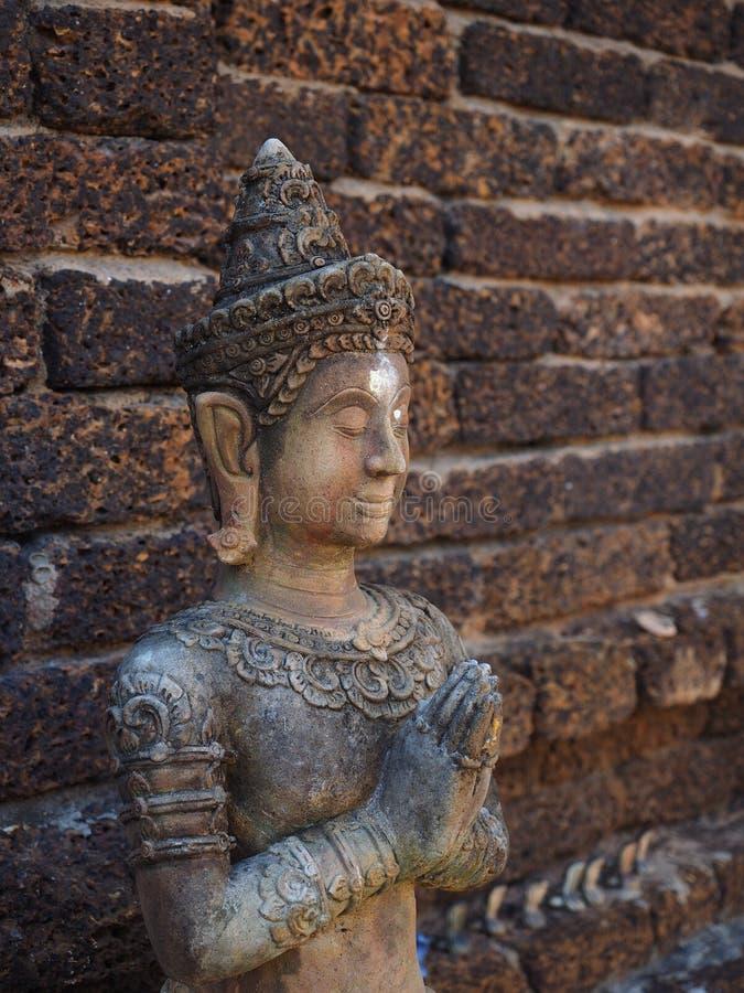 Scultura storica di buddhish fotografia stock