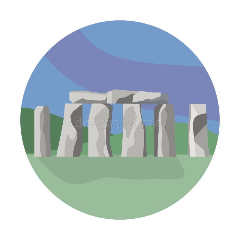 Scultura tradizionale di Stonehenge da viaggiare avventura illustrazione vettoriale