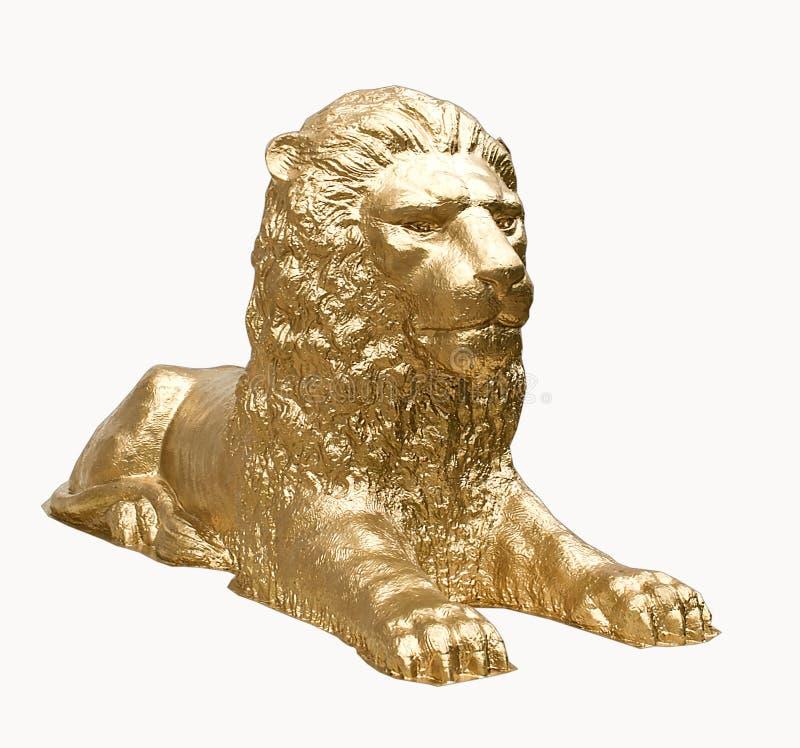Scultura vigorosa, maestosa, ardua di un leone fotografie stock libere da diritti