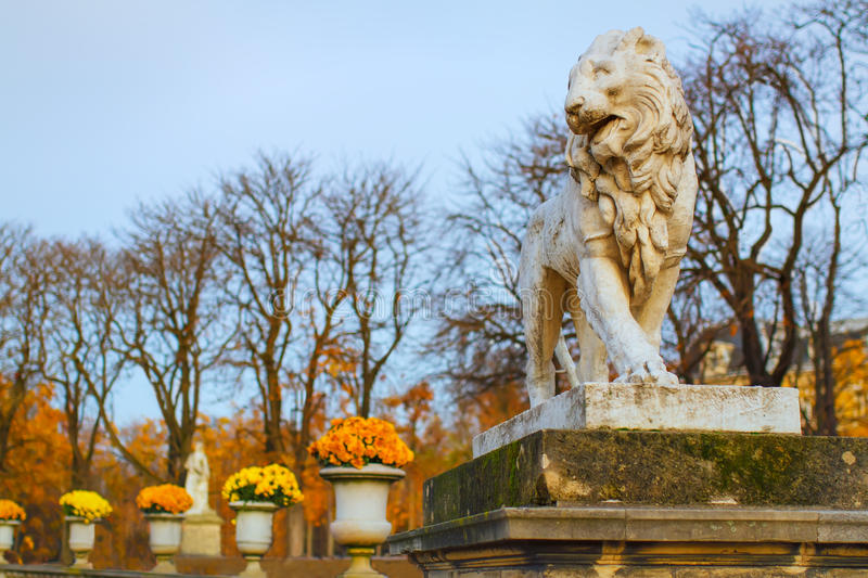 Sculture de lion image stock