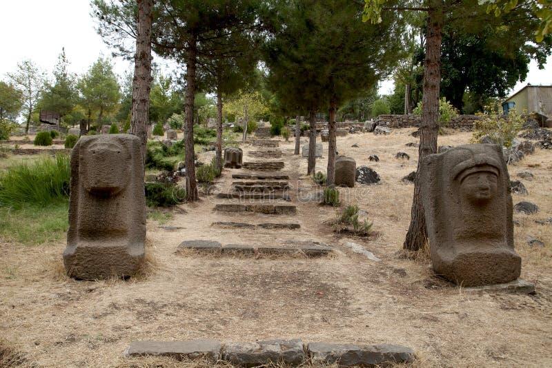 Sculture del Hittite, Gaziantep, Turchia fotografia stock libera da diritti