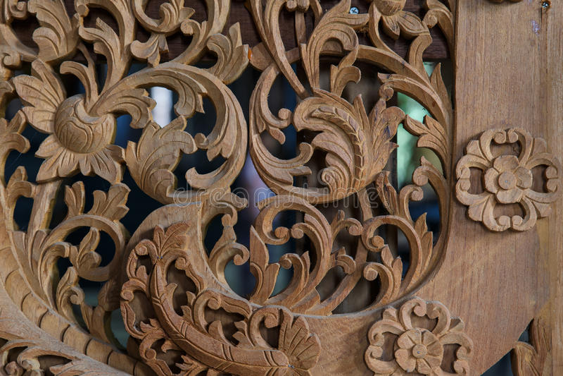 Sculture del legno della Tailandia fotografia stock libera da diritti