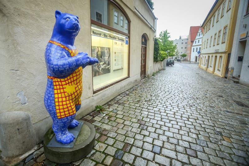 Sculture dell'orso in Freising fotografia stock