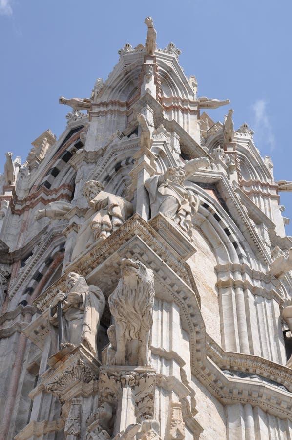 Sculture della cattedrale delle terre di Siena fotografia stock