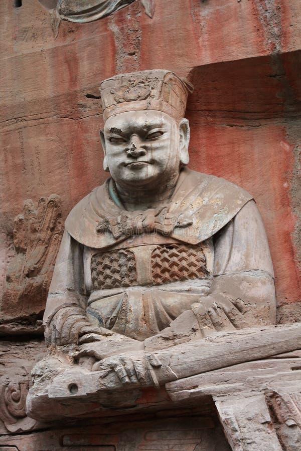 Sculture della roccia della montagna di Dazu Bao Ding fotografia stock libera da diritti