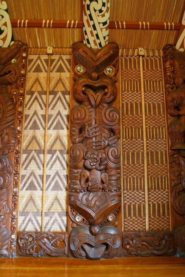Sculture maori fotografie stock libere da diritti