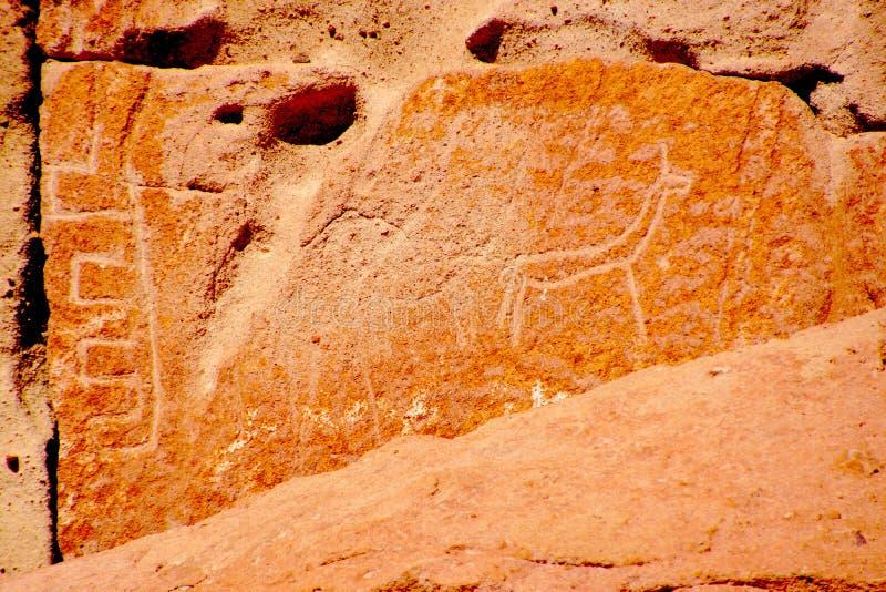 Sculture nel deserto di Atacama Cile fotografie stock